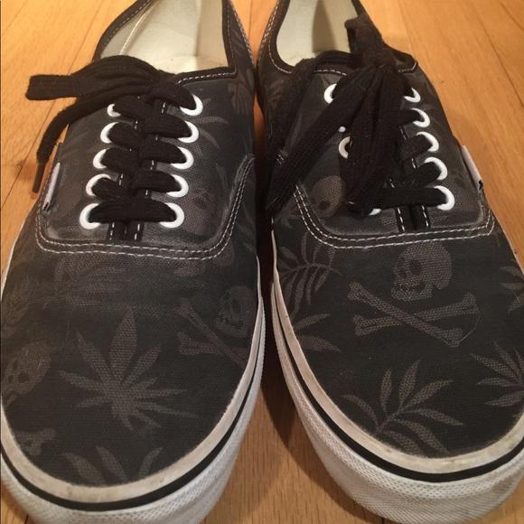 d5d4cec710 Vans Van Doren Black Aloha Skull Skate Shoe 9. M 5c04ac003e0caa7d7adc31db